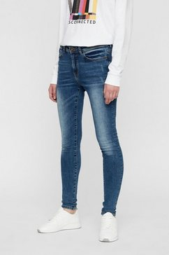 noisy may nmvicky normal waist skinny fit jeans blauw