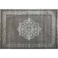 resital the voice of carpet vloerkleed »roma 682«, resital the voice of carpet, rechthoekig, hoogte 11 mm, machinaal geweven zilver
