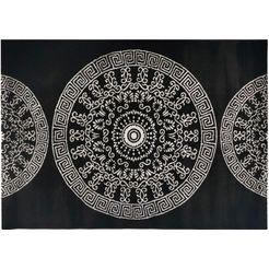 resital the voice of carpet vloerkleed »roma 681«, resital the voice of carpet, rechthoekig, hoogte 11 mm, machinaal geweven zwart