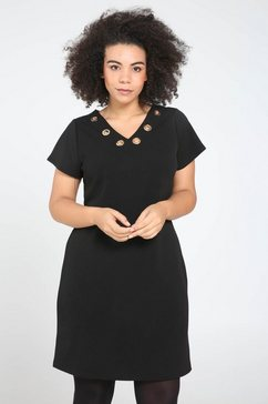 jurk met sportieve stroken zwart