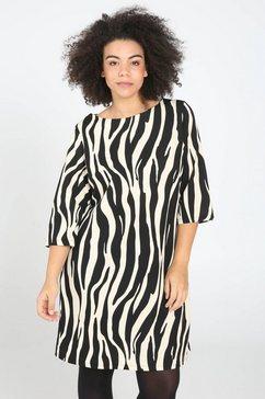 paprika printjurk »jurk met print en riem« zwart