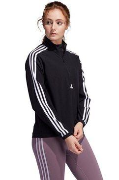 adidas performance windbreaker »woven 3 stripes 1-2 zip« zwart