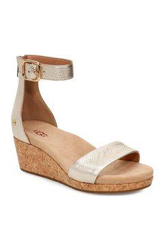 ugg sandaaltjes »zoe ii metallic« goud