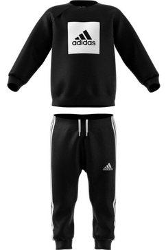 adidas performance joggingpak »i 3s logo jog ft« (set, 2 tlg.) zwart