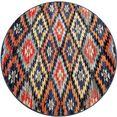 paco home vloerkleed »artigo 405«, paco home, rond, hoogte 11 mm, machinaal geweven multicolor