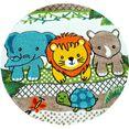 paco home vloerkleed voor de kinderkamer diamond 634 kinderen design met speels 3d-dier motief, kinderkamer groen