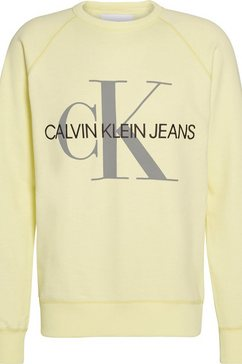 calvin klein sweatshirt »vegetable dye monogram crew neck« geel