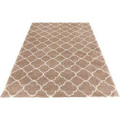 hoogpolig vloerkleed, mint rugs, »luna«, hoogte 35 mm, geweven bruin