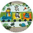 paco home vloerkleed voor de kinderkamer diamond 635 3d-kinderen design, dierentuindieren motief, kinderkamer groen