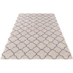 hoogpolig vloerkleed, mint rugs, »luna«, hoogte 35 mm, geweven