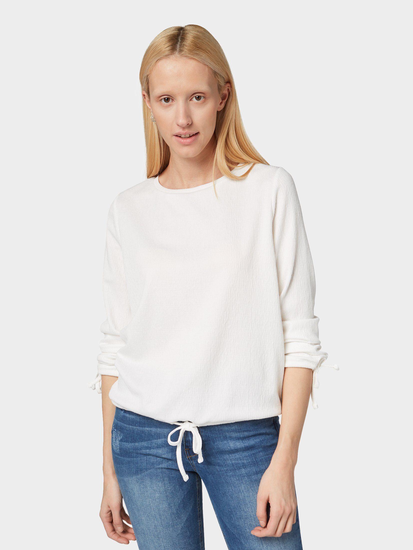 Tom Tailor Denim Shirt Gestructureerd Met Lange Mouwen Vind Je Bij - Geweldige Prijs