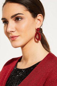 comma oorbellen rood
