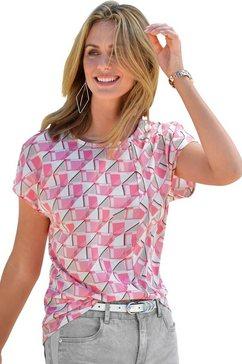 ambria blouse met grafisch motief roze