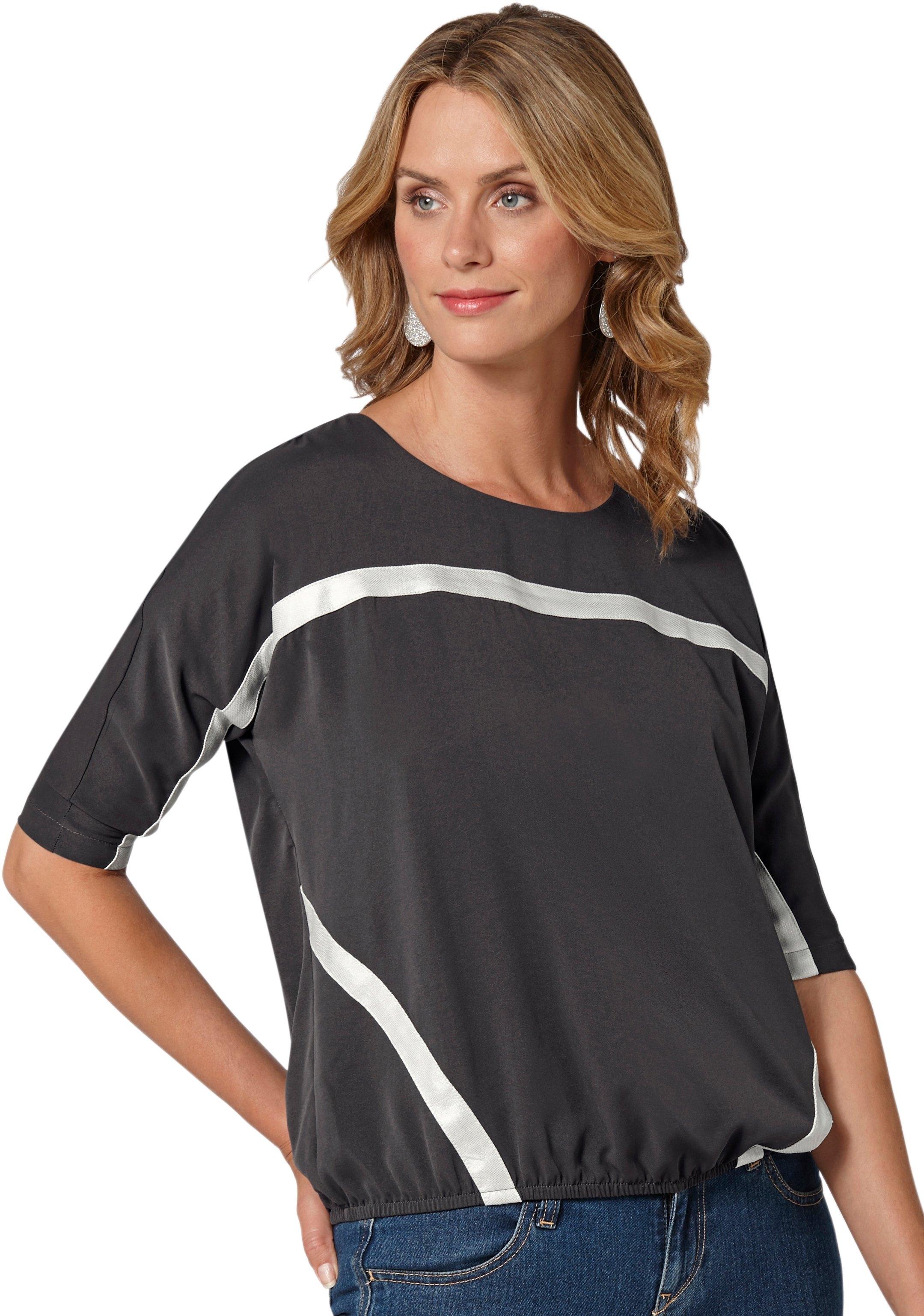 Ambria blouse met opgestikte sierbandjes opzij bij de taille voordelig en veilig online kopen