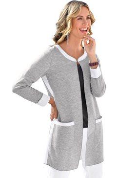ambria shirtblazer in trendy, lang model grijs