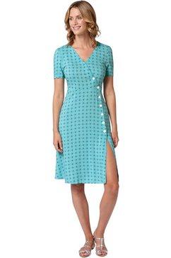 ambria jurk in flatteus, uitlopend model blauw