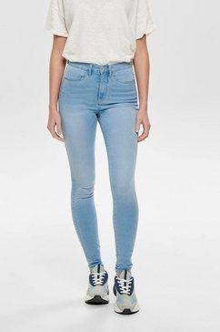 only high-waist jeans »onlroyal« blauw