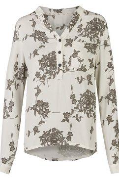 heimatliebe blouse met bloemmotief wit