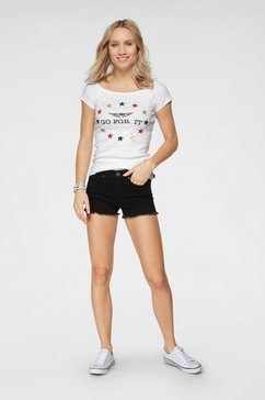 arizona shirt met carmenhals »em 2020 fanshirt - off-shoulder« wit