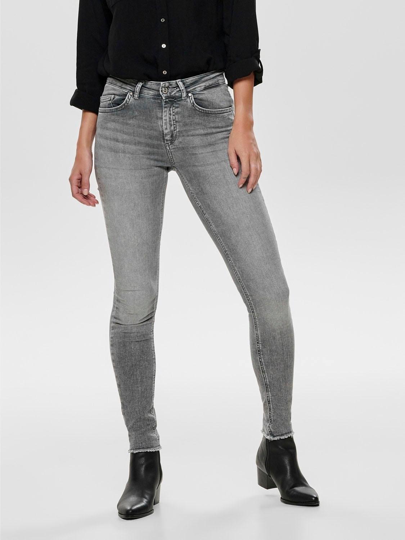 Only skinny fit jeans Blush met gerafelde zoom in de webshop van OTTO kopen