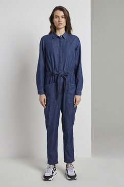 tom tailor jumpsuit »utility jeans-jumpsuit« blauw