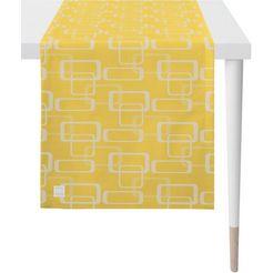 apelt tafelloper 3966 outdoor jacquard stof (1 stuk) geel