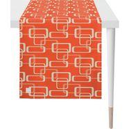 apelt tafelloper 3966 outdoor jacquard stof (1 stuk) oranje