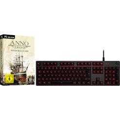 logitech games gaming-toetsenbord g413 zwart