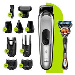 braun »10-in-1 multi-grooming-kit 7 mgk7220« multifunctionele trimmer grijs