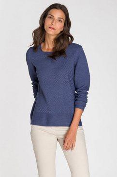 olsen gebreide trui blauw
