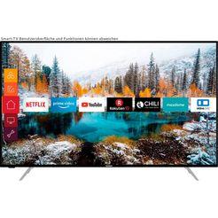 "telefunken led-tv d55v800m4cwh, 139 cm - 55 "", 4k ultra hd, smart-tv, 36 maanden fabrieksgarantie zwart"