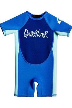 quiksilver - 1.5mm syncro - springsuit met korte mouwen en achterrits voor toddlers blauw