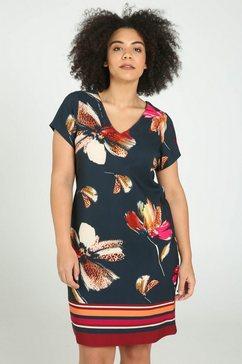 jurk met afrikaanse print blauw
