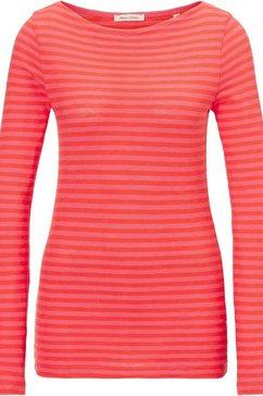 marc o'polo shirt met lange mouwen oranje