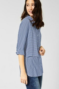 street one blouse met lange mouwen blauw