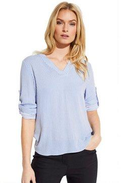 comma blouse zonder sluiting blauw