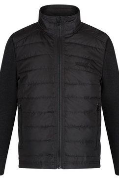 regatta gewatteerde jas »kinder steppjacke kenya mit fleece-aermeln« zwart
