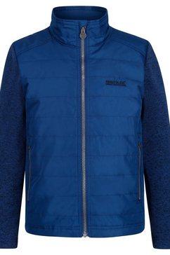 regatta gewatteerde jas »kinder steppjacke kenya mit fleece-aermeln« blauw