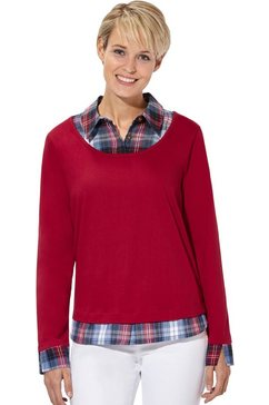 casual looks 2-in-1-shirt in populaire laagjes-look rood