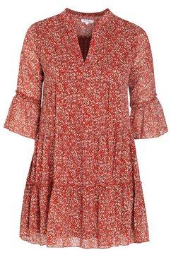 jurk met afrikaanse print oranje