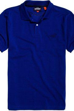 superdry poloshirt blauw
