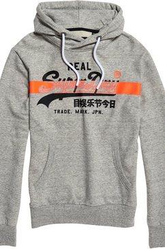 superdry hoodie grijs