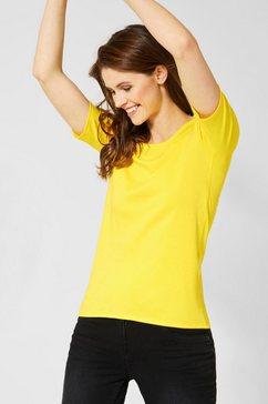 cecil shirt met ronde hals »lena« geel