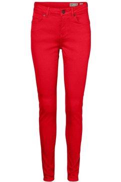 vero moda skinny fit jeans »vmhot seven« rood