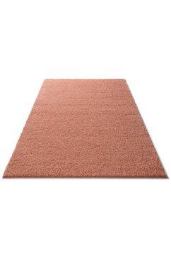 hoogpolig vloerkleed, home affaire collection, »shaggy 30«, hoogte 30 mm, geweven orange