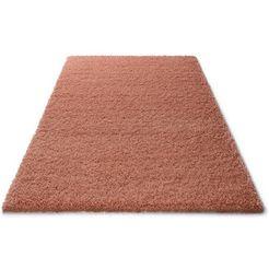 hoogpolig vloerkleed, home affaire, »viva«, hoogte 45 mm, geweven oranje