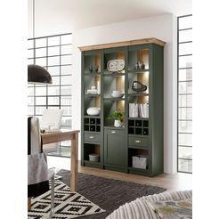 home affaire vitrinekast »cambridge« groen