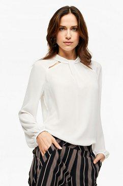 s.oliver black label oversized blouse met strepen beige