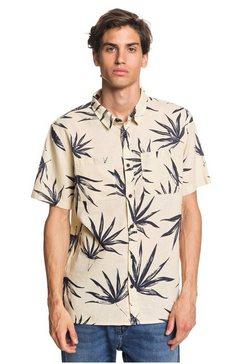 quiksilver overhemd met korte mouwen »deli palm« beige