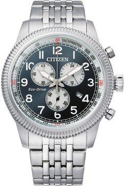 citizen chronograaf »at2460-89l« zilver